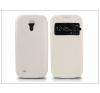 Haffner Samsung i9190 Galaxy S4 Mini S-View Flexi oldalra nyíló flipes tok - fehér tok és táska