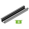 Lumines Alu profil eloxált (Type-B) LED szalaghoz, félig átlátsz