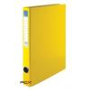 VICTORIA Gyûrûs könyv, 4 gyûrû, 35 mm, A4, PP/karton, VICTORIA, sárga