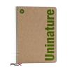 """Unipapel Spirálfüzet, A4, kockás, 80 lap, környezetbarát, UNIPAPEL """"Uninature"""", vegyes szín"""