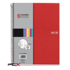 "MIQUELRIUS Spirálfüzet, A4, kockás, 150 lap, MIQUELRIUS ""Note Book 6"", piros"