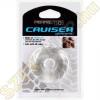 Perfect Fit Cruiser vastag rugalmas szilikon péniszgyűrű - áttetsző