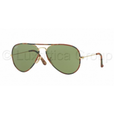 Ray-Ban RB3025JM 168/4E AVIATOR FULL COLOR GOLD GREEN napszemüveg (RB3025JM__168_4E)