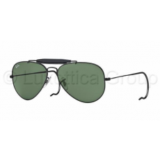 Ray-Ban RB3030 L9500 OUTDOORSMAN BLACK CRYSTAL GREEN napszemüveg (RB3030__L9500)