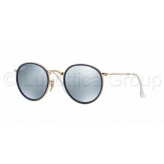 Ray-Ban RB3517 001/30 ROUND GOLD GREEN MIRROR SILVER napszemüveg (RB3517__001_30)