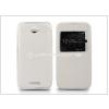 Sony Sony Xperia E4 (E2104/E2105) S-View Flexi oldalra nyíló flipes tok - fehér