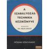 Műszaki A szabályozástechnika kézikönyve