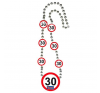 30. évszámos nyaklánc party kellék