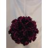 Rózsagömb szatén bordó (25 cm)