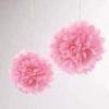 Papír gömb / pom-pom (25 cm átmérő ) rózsaszín