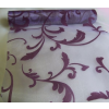 Inda mintás lila-padlizsán organza (47 cm * 5 m)