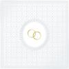 Gyöngyházfehér dombornyomott szalvéta gyűrűpárral 33x33 (15 db) ppd