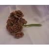 habrózsa csokor 12 cm-es barna (10szál)