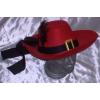 Testőr, muskétás kalap piros (dd32183)