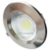 LEDvonal LED panel / mélysugárzó / 30 W / süllyesztett / kerek / meleg fehér / inox keret