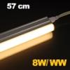 LEDvonal LED fénycső / T5 / 8W / 57 cm / sorolható / meleg fehér