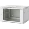 19-os fali rackszekrény, hálózati szerverszekrény, zárható ajtóval 600 x 994 x 600 mm, szürke 20 HE Intellnet (RAL 7035) 712040