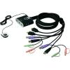 2 portos USB-s KVM switch, (billentyűzet, video, egér) elosztó, HDMI kimenettel Aten CS692-AT
