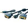 VGA / Jack Csatlakozókábel [1x VGA dugó/Jack dugó, 3,5 mm-es - 1x VGA dugó/Jack alj, 3,5 mm-es] 2 m Kék 2560 x 1600 pixel clicktronic