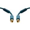 SAT Csatlakozókábel [1x F dugó - 1x F dugó] 15 m 95 dB aranyozott érintkező/Ferritmaggal Kék clicktronic