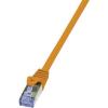 RJ45-ös patch kábel, hálózati LAN kábel CAT 7 S/FTP [1x RJ45 dugó - 1x RJ45 dugó] narancs 1,50m LogiLink CQ4048S