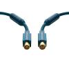 Antenna csatlakozókábel [1x Antennadugó, 75 Ω - 1x Antennacsatlakozó alj, 75 Ω] 15 m 95 dB aranyozott érintkező/Ferritmaggal Kék clicktronic