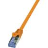 RJ45-ös patch kábel, hálózati LAN kábel, CAT 6A S/FTP [1x RJ45 dugó - 1x RJ45 dugó] 7,5 m Narancs LogiLink CQ3088S