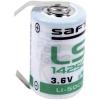 Lítium elem 1/2 AA U-forrfüllel, Saft 3.6 V 1200 mAh 1/2 AA (Ø x Ma) 15 mm x 25 mm