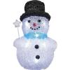 LED-es karácsonyi akril figura, hóember varázspálcával, Polarlite LBA-20-006