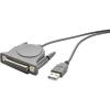 USB-/párhuzamos nyomtatókábel D-SUB aljjal, 1,8 m, Renkforce