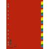 Regiszter, műanyag, A4, 1‐31, DONAU, színes