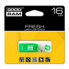 Pendrive, 16GB, USB 2.0, 20/5MB/sec, illatos, GOODRAM Fresh , menta (PD16GH2GRFMR9)