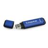 Pendrive, 64GB, USB 3.0, 256 bit titkosítás, KINGSTON Vault Privacy , kék (DTVP30/64GB)