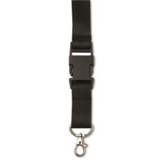 Csatos nyakpánt, kulcstartó, fekete (Csatos nyakpánt cseppkarabíner kulcstartóval. Méret: 80 × 2,5 ×)