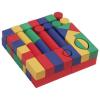 Fa építőkocka, 3 cm-es, színes