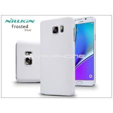Samsung SM-N920 Galaxy Note 5 hátlap képernyővédő fóliával - Nillkin Frosted Shield - fehér tok és táska