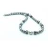 Swarovski gyöngy és kristály nyaklánc - Light Grey, Grey, Dark Grey
