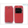 Haffner Sony Xperia E4 (E2104/E2105) S-View Flexi oldalra nyíló flipes tok - piros