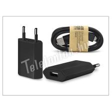 Univerzális Univerzális USB hálózati töltő adapter + micro USB adatkábel - 5V/1A - black mobiltelefon kellék