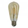 V-tac 4W Edison dekor LED izzó (E27, filament, meleg fehér (2200K))