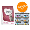 Cosma Próbacsomag: 400 g Concept for Life + 6 x 70 g Cosma Nature - All Cats 10 + Cosma Nature