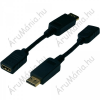 Digitus DisplayPort / HDMI adapter [1x mini DisplayPort dugó - 1x HDMI alj] fekete, Digitus