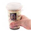 Kerámia kávés börge fedővel