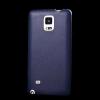 utángyártott Műanyag telefonvédő (bőrbevonat) SÖTÉTKÉK [Samsung Galaxy Note 4. (SM-N910C)]