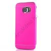 utángyártott Műanyag telefonvédő (alumínium hátlap) MAGENTA [Samsung Galaxy S6 (SM-G920)]