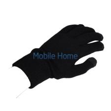 utángyártott Kapacitív kesztyű érintőképernyős telefonhoz, fekete/szürke mobiltelefon kellék