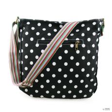 L1104D2 - Miss Lulu London szögletes táska Polka Dot fekete
