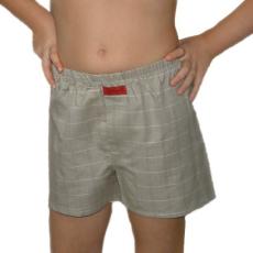 Boxeralsó gyerek (pamut-vászon) drapp kockás