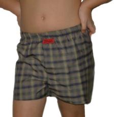 Boxeralsó gyerek (pamut-vászon) barna kockás