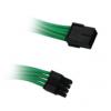 Bitfénix BitFenix 8-Pin PCIe hosszabbító 45cm - Zöld / Fekete